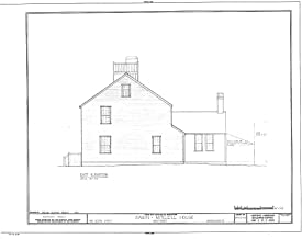 Historic Pictoric Structural Drawing HABS Mass,10-NANT,25- (Sheet 6 of 10) - Swain-Mitchell House, 1 Vestal Street, Nantucket, Nantucket County, MA 55in x 44in