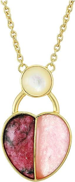 12K Soft Polish Gold/Crystal/Pink Aventurine/Spurite/Ivory Pearl