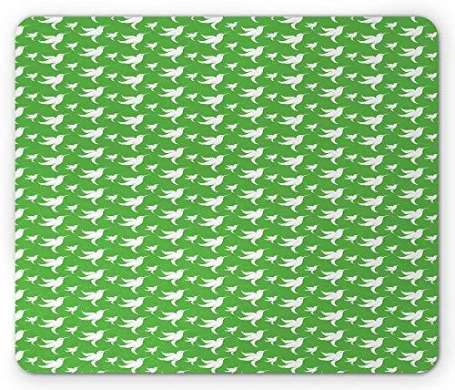 Kolibri-muismat grafische abstracte tekening van de continue overvloed vliegende vogels vogels rechthoek anti-slip muismat