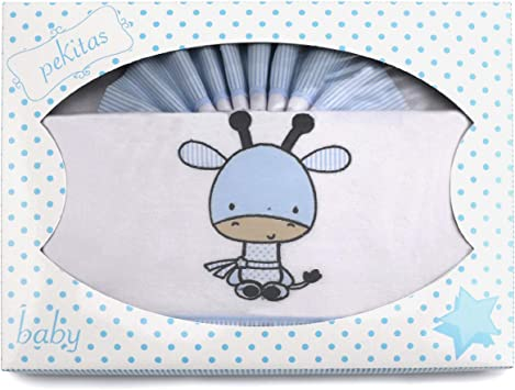 PEKITAS Juego Sabanas 3 Pcs Cuna 60x120 cm 100/% Algod/ón Fabricado En Portugal Osito Color