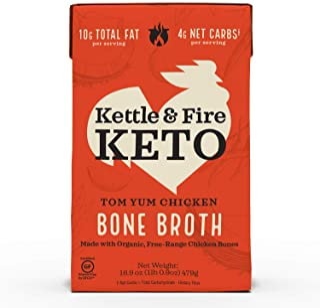 Kettle & Fire, Broth Bone Chicken Tom Yum Keto, 16.9 Ounce