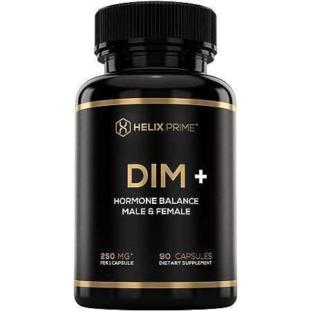 DIM Supplement Plus BioPerine for Women and Men Estrogen Hormone Balance Diindolylmethane DIM Complex Made in USA