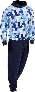 Pixel Pijamas Niños Ropa de Dormir para niños Pijamas 100% algodón Sudadera con Capucha Sudadera Chándal para niño Videojuego PJ Set