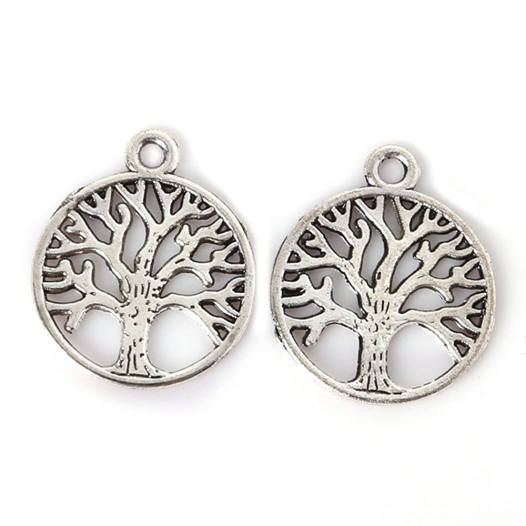 Bulk 50 pieces Tree Charms, Tree Of Life Charms, Silver Tone,