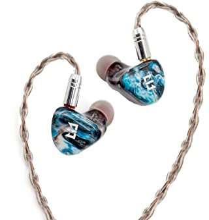 Yinyoo TRI Starshine In Ear hörlurar 2BA+2DD hörlurar epoxy hartspanel Hifi Bass hörlurar med 2-polig hörlurskabel och 3 T...