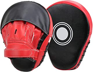 Muay Thai kick dojo Wuudi Hand pads 1 pair boxing training target focus impact pads boxing pads training pad kickboxing training hand pads for karate sparring MMA martial arts