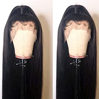 BEEOS 9A 360 Lace Frontal Wig with Baby Hair,150% Density Pre Plucked and Bleached Knots Free Part Brazilian Virgin Remy Straight Human Hair Wigs (22 inch)