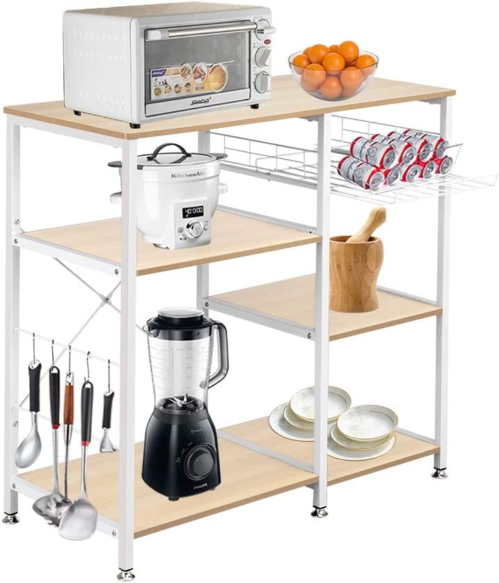 Goujxcy 3-Tier Kitchen Baker Rack Now on supreme sale S Microwave Utility Oven Stand