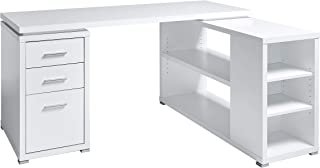 Marque Amazon -Movian Rouen - Bureau d'angle, 152,4x120x75,3cm, Blanc