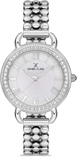 Daniel Klein Premium Ladies - White Dial Silver Band Watch - DK.1.12564-1