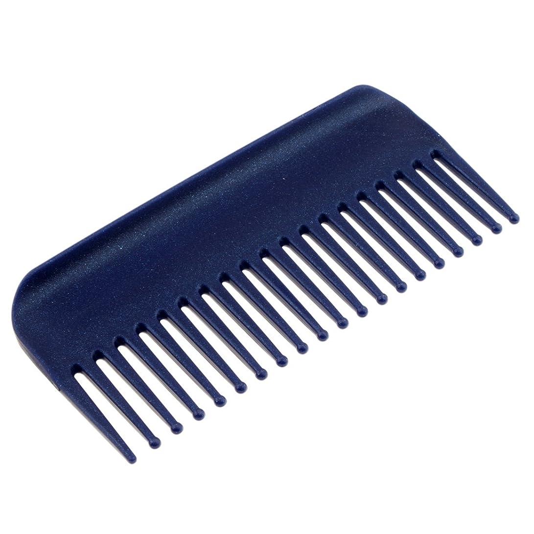 チョコレート風が強い説明Fenteer ヘアコーム サロン ヘアケア 脱毛ヘアコーム ヘアブラシ 耐熱性 帯電防止 頭皮 マッサージ 丸いヘッド 4色選べる - 青