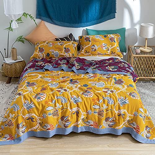KLily Manta De Toalla Impresa Retro Manta De Siesta Simple Y Doble De Oficina Adecuado para Sofá De Dormitorio Y Manta De Aire Acondicionado De Coche