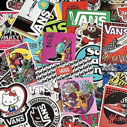 WYDML Etiqueta engomada del Equipaje de la Marca Tide, Caja de Palanca Trasera para monopatín, Guitarra, teléfono, Ordenador, Pasta Impermeable, 100 Uds.
