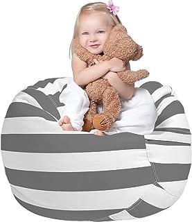 Fauteuils Poire pour Enfants, 38in Peluche Rangement Pouf Housse de Chaise Coton Toile Grand Pouf Chaises Enfants Jouet Or...