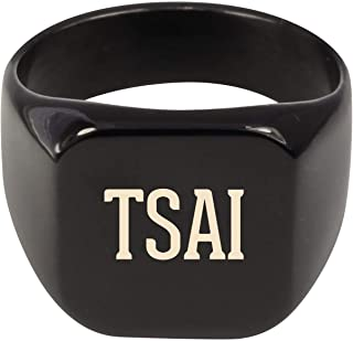 Molandra Products TSAI - Adult Last Name Stainless Steel Ring