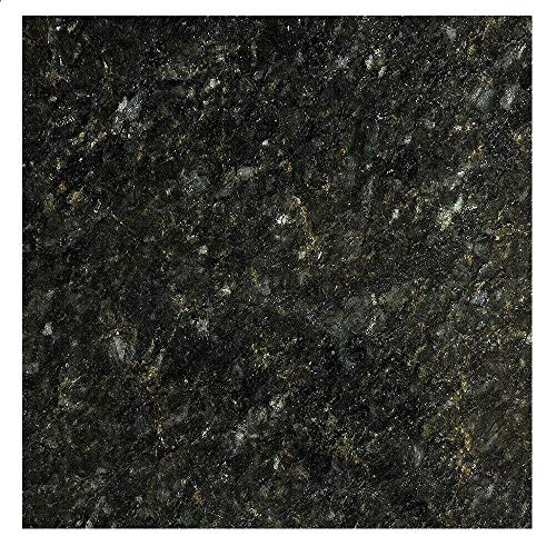 "EZ FAUX DECOR Marble Self Adhesive Granite Black Emerald Roll Kitchen Countertop Cabinet Furniture Instant Update. Easy to Remove Thick Waterproof PVC Vinyl Laminate Film. Why Paint? (36"" X 240"")"