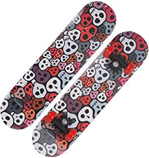 Skateboard-Beginner Skateboard 23.6 Inch Anime One Piece Skull Grave Pattern Children Skateboard
