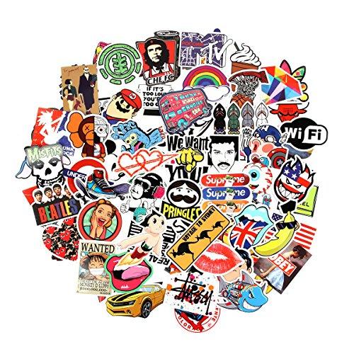 Verschiedene Vinyl-Aufkleber von Baybuy, 100 Stück, Auswahl an Vinyl-Aufklebern für Auto, Motorrad, Fahrrad, Koffer, Abziehbild, Graffiti-Patch, für Skateboard und Laptop