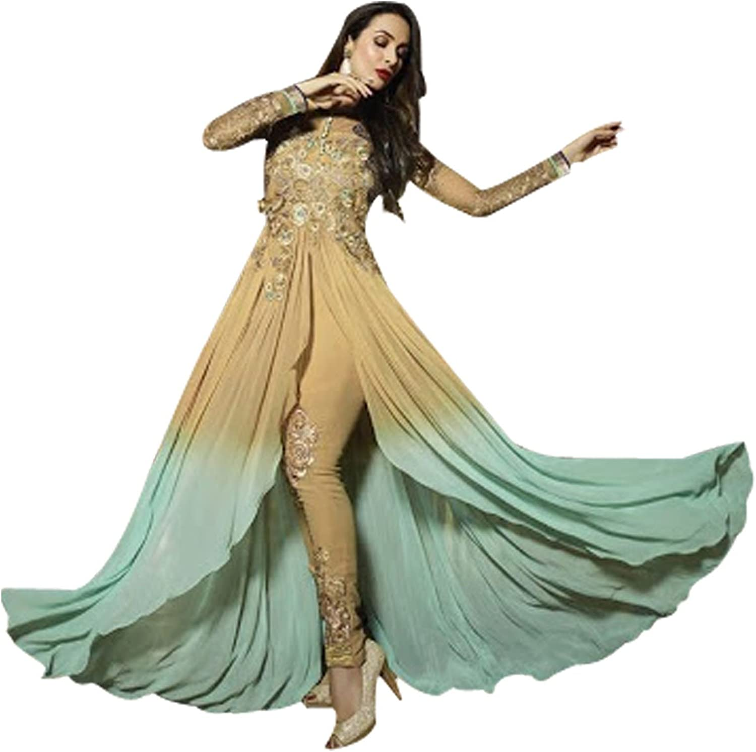 Ethnic Malaika Arora Anarkali Shalwar Kameez Suit Wedding Ethnic Dress Sexy