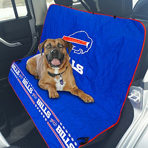 NFL CAR SEAT COVER - BUFFALO BILLS Waterproof, Non-slip BEST Football LICENSED PET SEAT cover for DOGS & CATS.