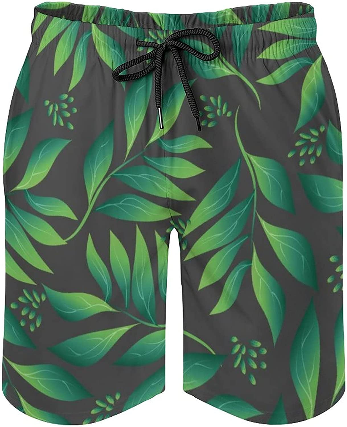 Men's Barracuda Board Shorts with Pockets Tropical Pattern
