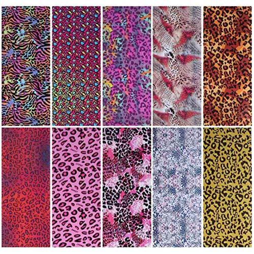 Stella Rare Nail Art Star - Juego de papel para transferencia de uñas (100 x 4 cm), diseño de leopardo