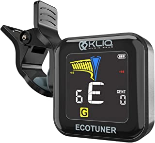 Best KLIQ EcoTuner - USB Rechargeable Clip-On Tuner (with included charging cable) - with Guitar, Ukulele, Violin, Bass & Chromatic Tuning Modes Review