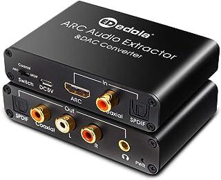 HDMI ARC Adapter & DAC Converter, edola HDMI ARC Audio Extractor Adapter & DAC Converter Selector with Digital Optical Tos...
