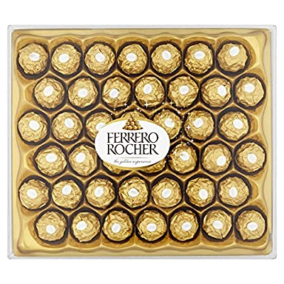 ferrero rocher chocolate gift set, hazelnut and milk chocolate pralines, box of 42 pieces Ferrero Rocher Chocolate Set Box of 42 Pieces 61YKL1TEGrL