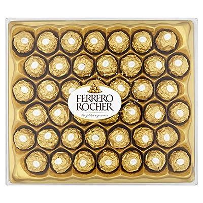ferrero rocher chocolate gift set, hazelnut and milk chocolate pralines, box of 42 pieces Ferrero Rocher Chocolate Set Box of 42 Pieces 61YKL1TEGrL