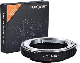K&F Concept Lens Mount Adapter for Leica M Rangefinder Lens to Nikon Camera Body
