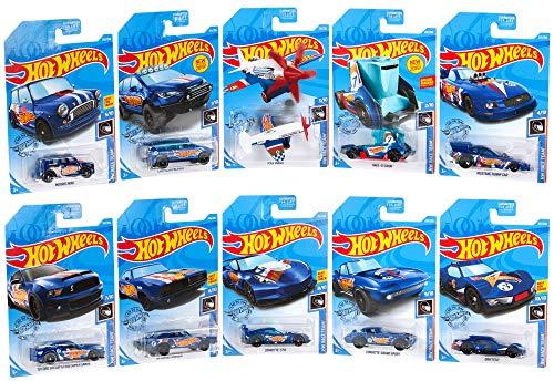 Hot Wheels Race Team - Pack de 10 miniclutorios de diecast [Exclusivo de Amazon]