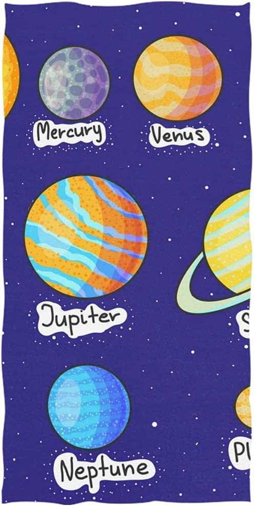 Bath Towel Cute Denver Mall Space Planet Draw Ultra Durable Factory outlet Gym Beach