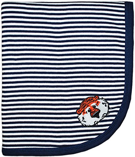 Creative Knitwear Auburn University Aubie The Tiger Collegiate Striped Baby and Toddler Blanket