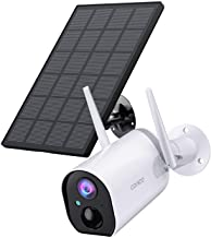 Outdoor Security Camera, Conico Wireless Solar Rechargeable Battery Powered Home IP Camera Surveillance WiFi Cam with Solar Panel Night Vision Two Way Audio PIR Motion Detection IP65 Waterproof