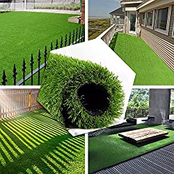 in budget affordable Luxurious and realistic 4FTX10FT artificial turf, 70 ounces of face weight / drain hole / rubber …