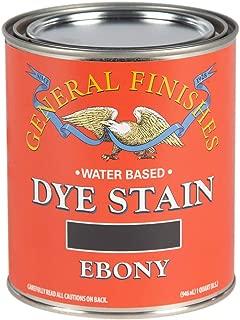 General Finishes DQE Water Based Dye, 1 Quart, Ebony