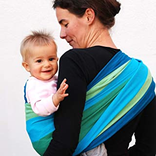 DIDYMOS Woven Wrap Baby Carrier Stripes IRIS (Organic Cotton), Size 4