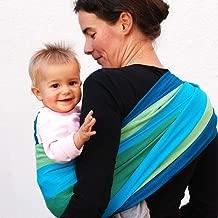 DIDYMOS Woven Wrap Baby Carrier Stripes IRIS (Organic Cotton), Size 6