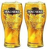 Juego de vasos de cerveza o sidra irlandesa MAGNERS de sidra irlandesa MAGNERS 2, un par de vasos de cerveza