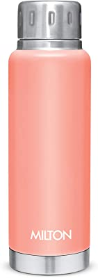 MILTON Elfin Stainless Steel Hot and Cold Water Bottle, 300ml, Orange, Peach