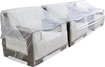 TopSoon Plastic Couch Cover Sofa Cover for Storage and Moving Clear Sofa Bag Patio Furniture Cover Waterproof Dust-Proof 1...