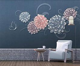 Behang 3D Behang Muurschilderingen Bloem Vlinder Patroon Muurschildering 3D Slaapkamer Behang voor Woonkamer Muur Papier D...