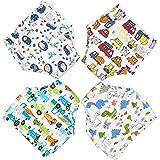 Zumou Toddler Training Pants Cotton Potty Training Underwear for Baby Boys Girls 4