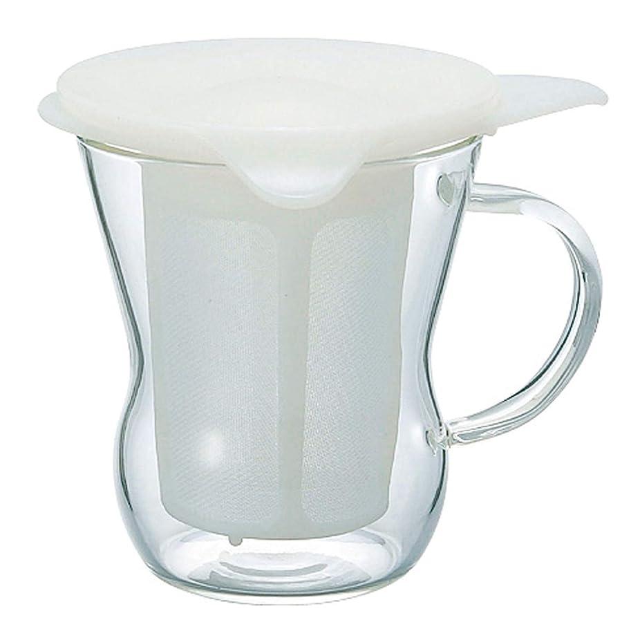 三角形拍手相関するHARIO (ハリオ) ワンカップ ティー メーカー 200ml ホワイト OTM-1NW