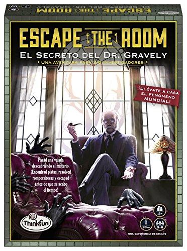 ThinkFun 76311, Escape The Room: Dr. Gravely, Juego de mesa, Versión en Español, 3-8 Jugadores, Edad Recomendada 13+