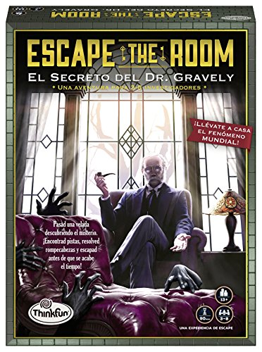 ThinkFun 76311, Escape The Room: Dr. Gravely, Juego de mesa, Versión en...