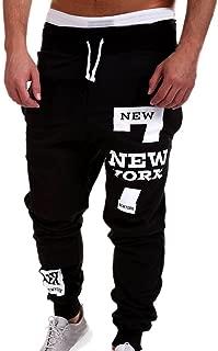 Mens Fashion Trousers Men Print Pants Casual Pants Sweatpants