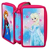 Scooli FRZH0430 Doppeldecker Schüleretui mit Stabilo Markenfüllung, Disney Frozen, 29 teilig
