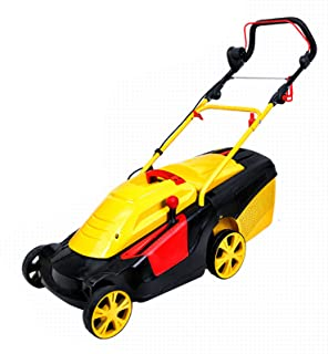 BKWJ Tondeuse à Gazon électrique Filaire, Tondeuse à Gazon poussée avec Moteur sans balais, Sac de ramassage d'herbe de 43...